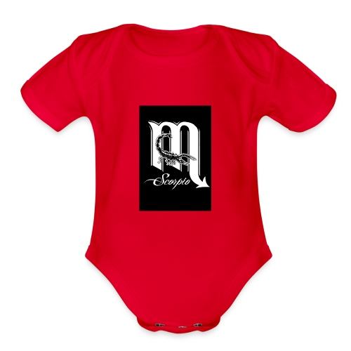 LEVEL ONE SCORPIO ART - Organic Short Sleeve Baby Bodysuit
