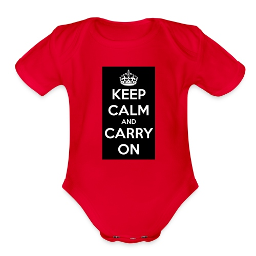 KEEP CALM AND SUB TO DIAMOND - Organic Short Sleeve Baby Bodysuit