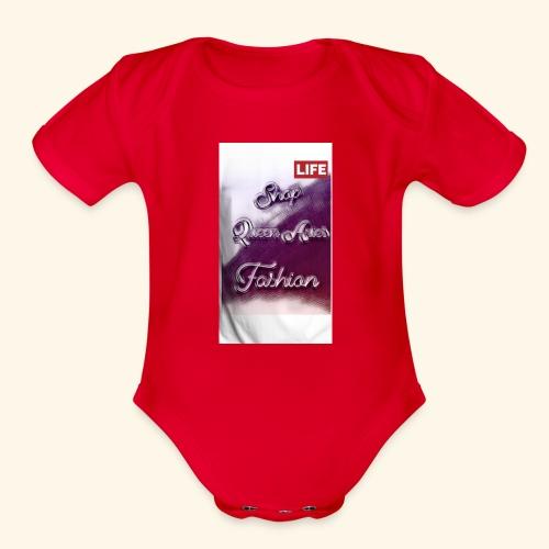Queen Aries life - Organic Short Sleeve Baby Bodysuit