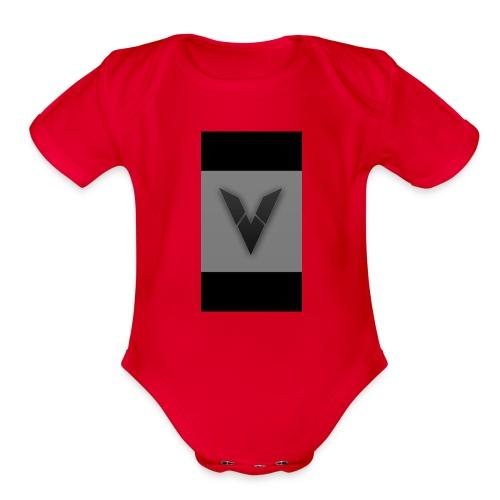Vexas logo - Organic Short Sleeve Baby Bodysuit