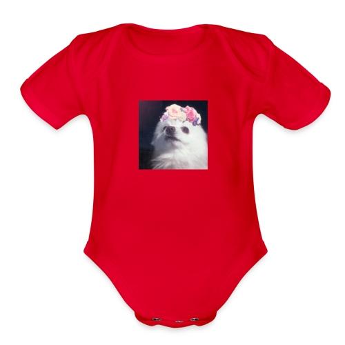 Doggo :3 - Organic Short Sleeve Baby Bodysuit