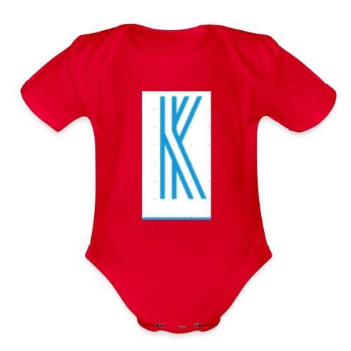 The K design - Organic Short Sleeve Baby Bodysuit