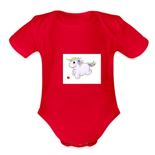 ff6135973e0410e02db54052d3b1f24c gay unicorn unic - Organic Short Sleeve Baby Bodysuit
