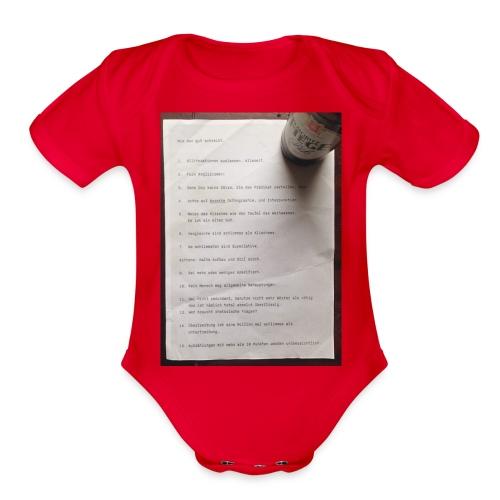 copywriting - Organic Short Sleeve Baby Bodysuit
