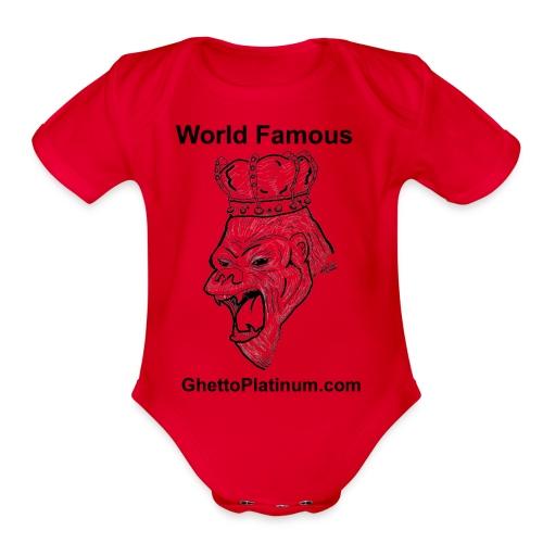 T-shirt-worldfamousForilla2tight - Organic Short Sleeve Baby Bodysuit