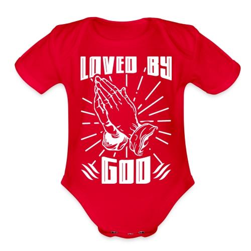 Loved By God - Organic Short Sleeve Baby Bodysuit