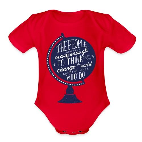 change the world - Organic Short Sleeve Baby Bodysuit