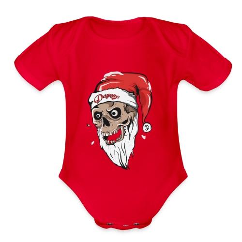 santskull - Organic Short Sleeve Baby Bodysuit