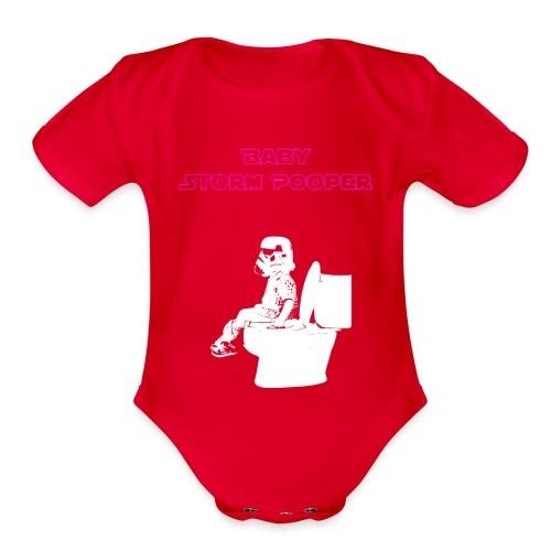 Baby Storm Pooper Purple - Organic Short Sleeve Baby Bodysuit