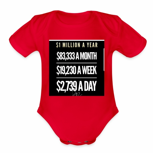Million Dollar Tee - Organic Short Sleeve Baby Bodysuit