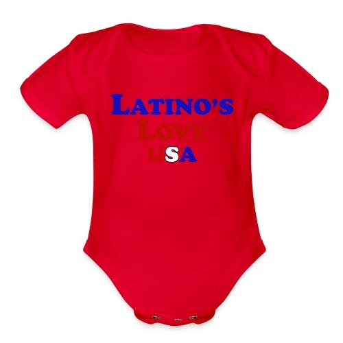 Latino's Love T Shirt - Organic Short Sleeve Baby Bodysuit