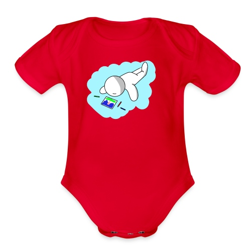 I'm having fun! - Organic Short Sleeve Baby Bodysuit
