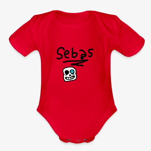 Sebas 1Draw - Organic Short Sleeve Baby Bodysuit