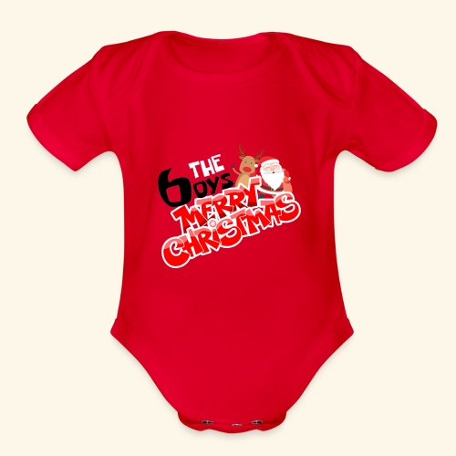 The 6oys Christmas Edition - Organic Short Sleeve Baby Bodysuit