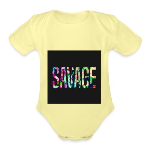 Savage Wear - Organic Short Sleeve Baby Bodysuit