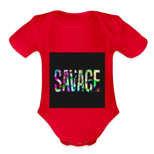 Savage Wear - Organic Short Sleeve Baby Bodysuit