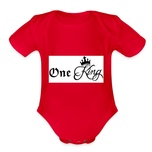 One king - Organic Short Sleeve Baby Bodysuit