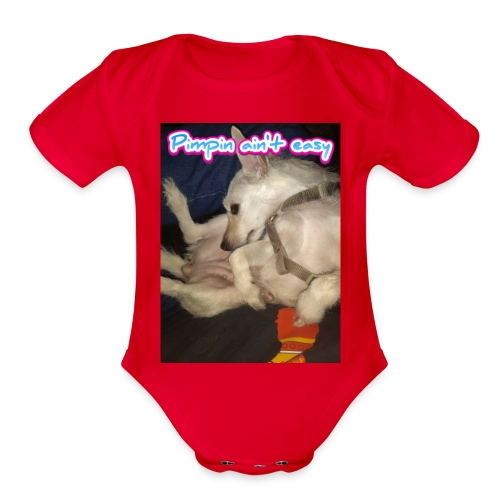 Pimpin ain't easy - Organic Short Sleeve Baby Bodysuit