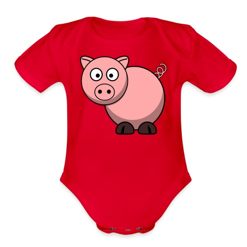 Funny Pig T-Shirt - Organic Short Sleeve Baby Bodysuit