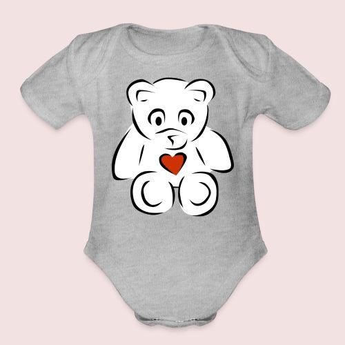 Sweethear - Organic Short Sleeve Baby Bodysuit