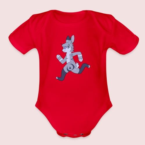 Breezy Bunny - Organic Short Sleeve Baby Bodysuit