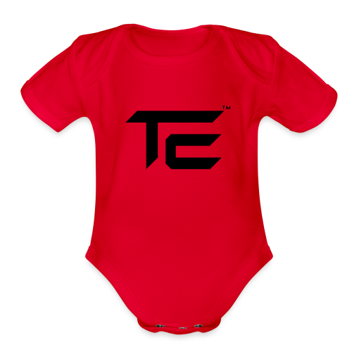 TE Logo - Organic Short Sleeve Baby Bodysuit