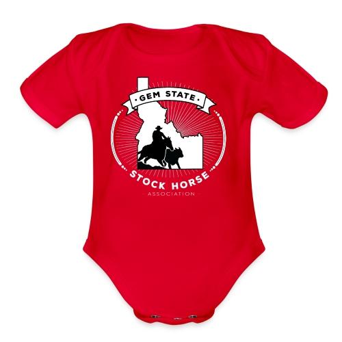 Sunburst Logo - Organic Short Sleeve Baby Bodysuit