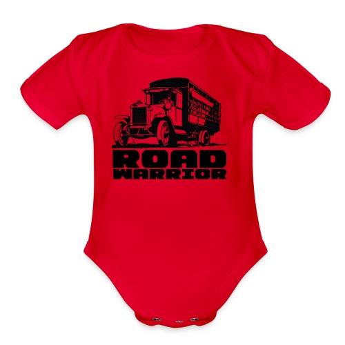 road warriorT - Organic Short Sleeve Baby Bodysuit