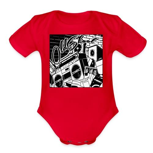 oldskool - Organic Short Sleeve Baby Bodysuit