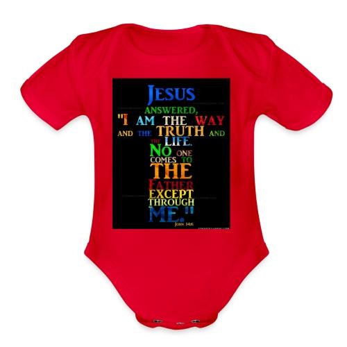 i love jesus - Organic Short Sleeve Baby Bodysuit
