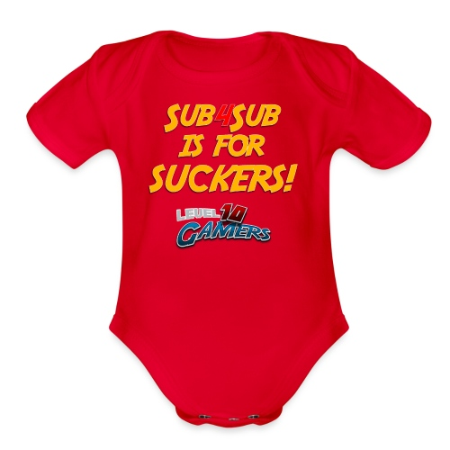 Anti Sub4Sub - Organic Short Sleeve Baby Bodysuit
