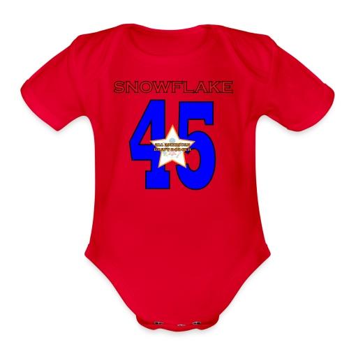 president SNOWFLAKE 45 - Organic Short Sleeve Baby Bodysuit