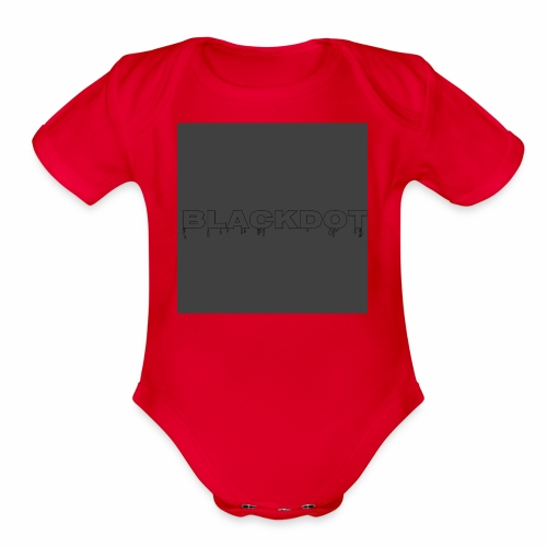 Blackdot grey - Organic Short Sleeve Baby Bodysuit