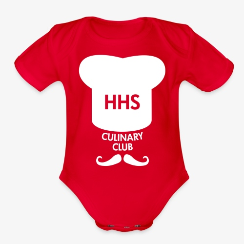 Culinary Club Logo - Organic Short Sleeve Baby Bodysuit