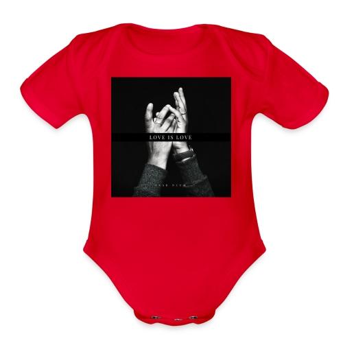 Love is love - Organic Short Sleeve Baby Bodysuit