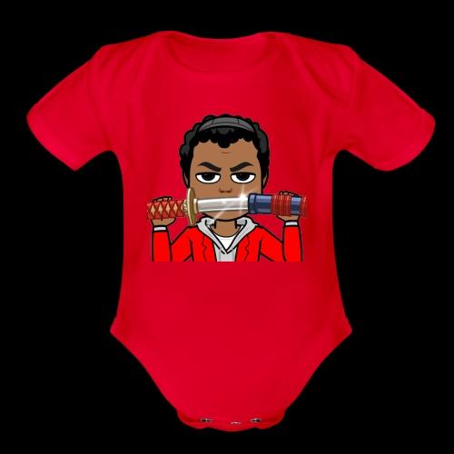 Cartoon Temmy - Organic Short Sleeve Baby Bodysuit