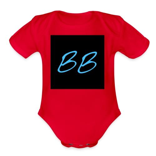 BLOKEBLAKE LOGO - Organic Short Sleeve Baby Bodysuit