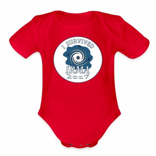 I survived Hurricane Irma 2017 - Organic Short Sleeve Baby Bodysuit