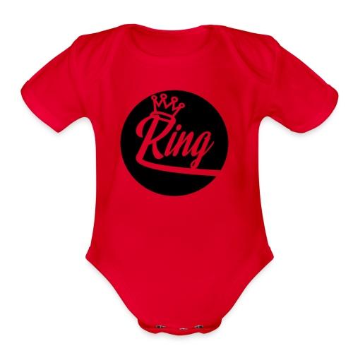 King Kunta New School Logo - Organic Short Sleeve Baby Bodysuit