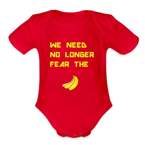 No fear the Banana - Organic Short Sleeve Baby Bodysuit