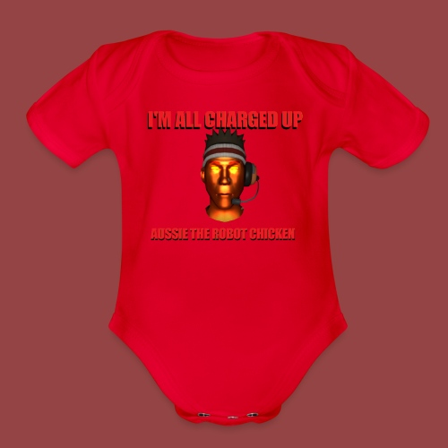 Charged Up Shirt - Organic Short Sleeve Baby Bodysuit