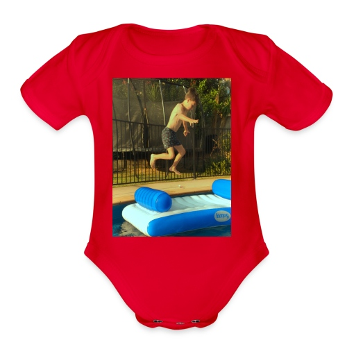 jump clothing - Organic Short Sleeve Baby Bodysuit