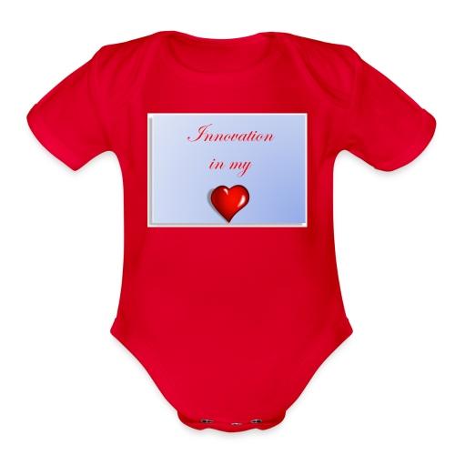 Innovation In my Heart - Organic Short Sleeve Baby Bodysuit