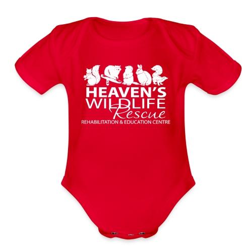 HWR White - Organic Short Sleeve Baby Bodysuit