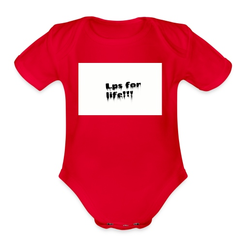 Lps for life!! - Organic Short Sleeve Baby Bodysuit