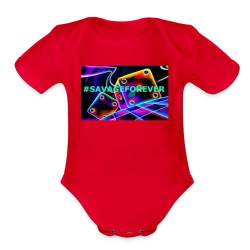 savageforlife - Organic Short Sleeve Baby Bodysuit