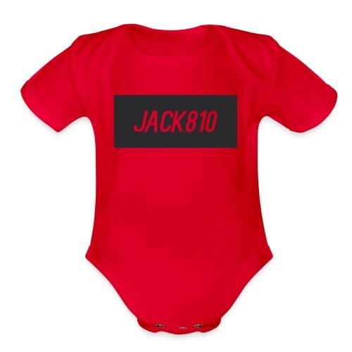 Jack810 logo - Organic Short Sleeve Baby Bodysuit