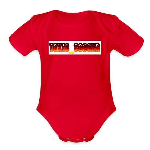 Toxic_Soccer - Organic Short Sleeve Baby Bodysuit