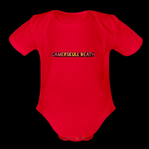Gamerskull death video company - Organic Short Sleeve Baby Bodysuit