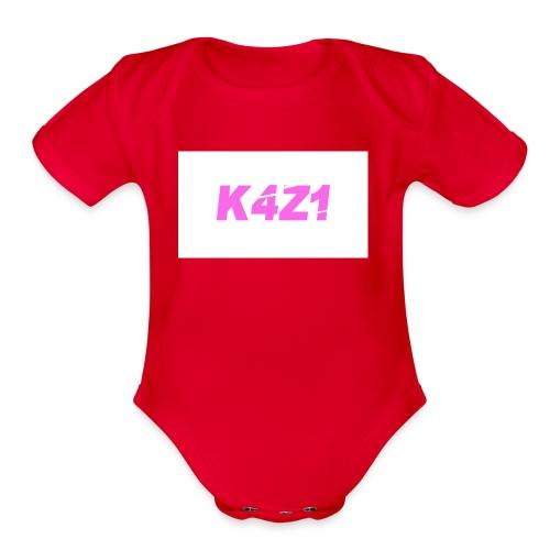 space - Organic Short Sleeve Baby Bodysuit